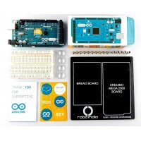 Arduino Mega 2560 Development board with breadboard, breadboard platform and USB Calbe