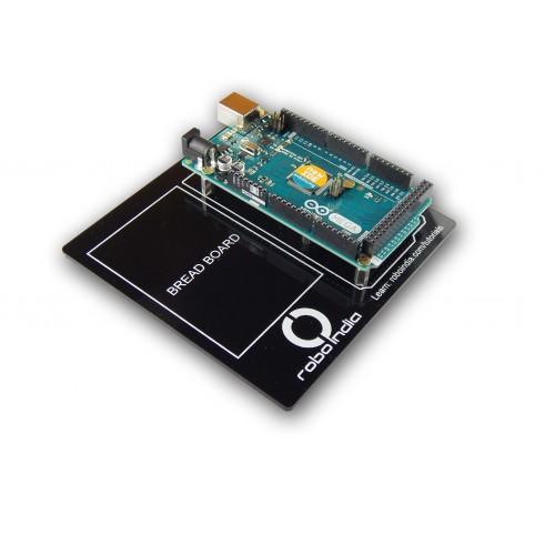 Arduino mega development board with breadboard