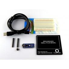 Arduino Nano development board with Breadboard, Breadboard Platform and mini USB Cable