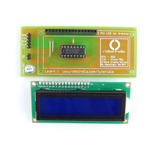 Pin lcd for arduino with tutorials