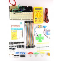 Basic of Electronics Kit with BreadBoard mount + component Tray + Robo India's Basic of Electronics Handbook