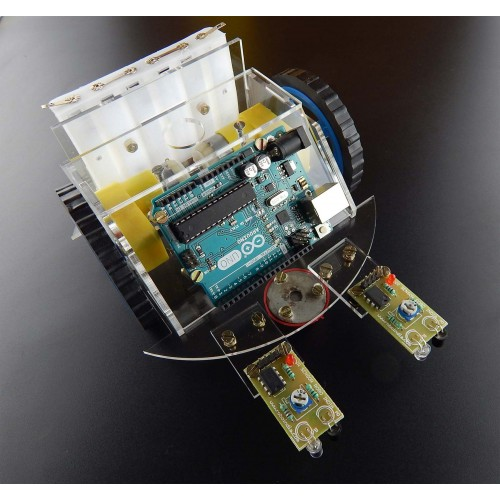 Arduino Based Line Follower Kit with original Arduino UNO Board on