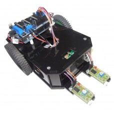 Arduino Based Line Follwer Kit with Arduino UNO based Robo India's R-Board