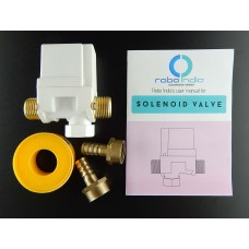 Solenoid Valve + Connection Nipples x 2 + Thread Seal Tape roll + user manual
