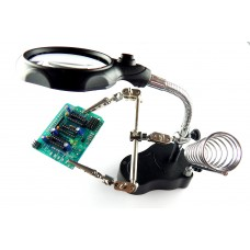 Soldering Helping Hand Magnifier LED Light with Soldering Iron stand