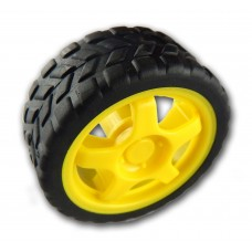 Rubber Wheel of Robotics Vehicles for BO Motor 65mmX30mm