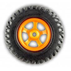 Pure rubber robot wheel for 6mm shaft ( 2 Pcs )