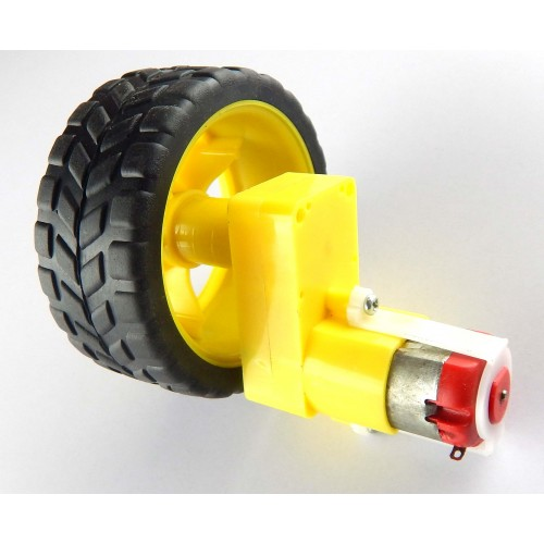 Ideal bo motor kit with wheels for robot consturction for Robot motors and wheels