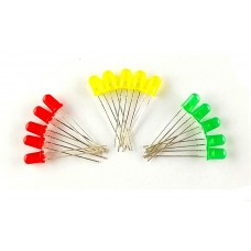 RED, YELLOW, GREEN - 5 mm LED each 5 piece