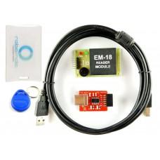 RFID Kit - RFID Reader EM18 Board With FTDI Basic Programmer for Serial Interfacing