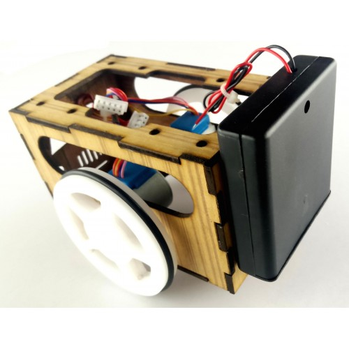 Raptor robotic chassis with 5v geared stepper motor pre for Robotic motors or special motors