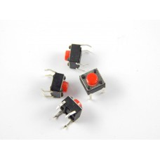 Robo India TECSW Tactile Switch micro - Push to ON button (Set of 20)