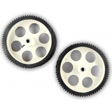 10 x 2 CM Robot Wheels (tyres) for 6 mm shaft Geared DC motor - 2 Pcs