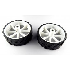 10 x 4 CM Robot Wheels (tyres) for 6 mm shaft Geared DC motor - 2 Pcs