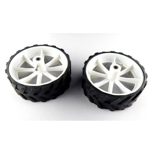 10 x 4 cm robot wheels tyres for 6 mm shaft geared dc for Robot motors and wheels