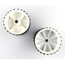 7 x 4 CM Robot Wheels (tyres) for 6 mm shaft Geared DC motor - 2 Pcs