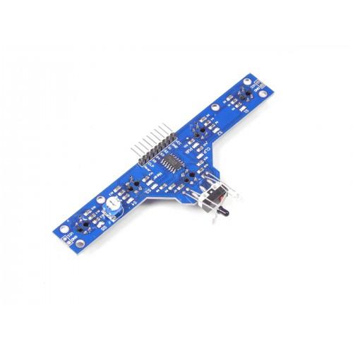 Five IR Sensor Array with Obstacle and Bump Sensor Arduino