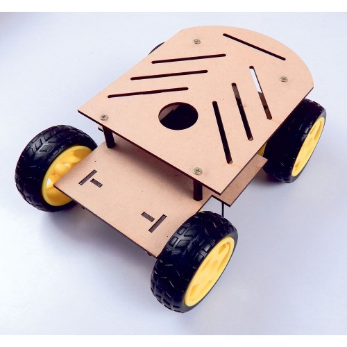 Robotic Chassis 4 wheel drive Double Layer for Arduino, ESP8266 and