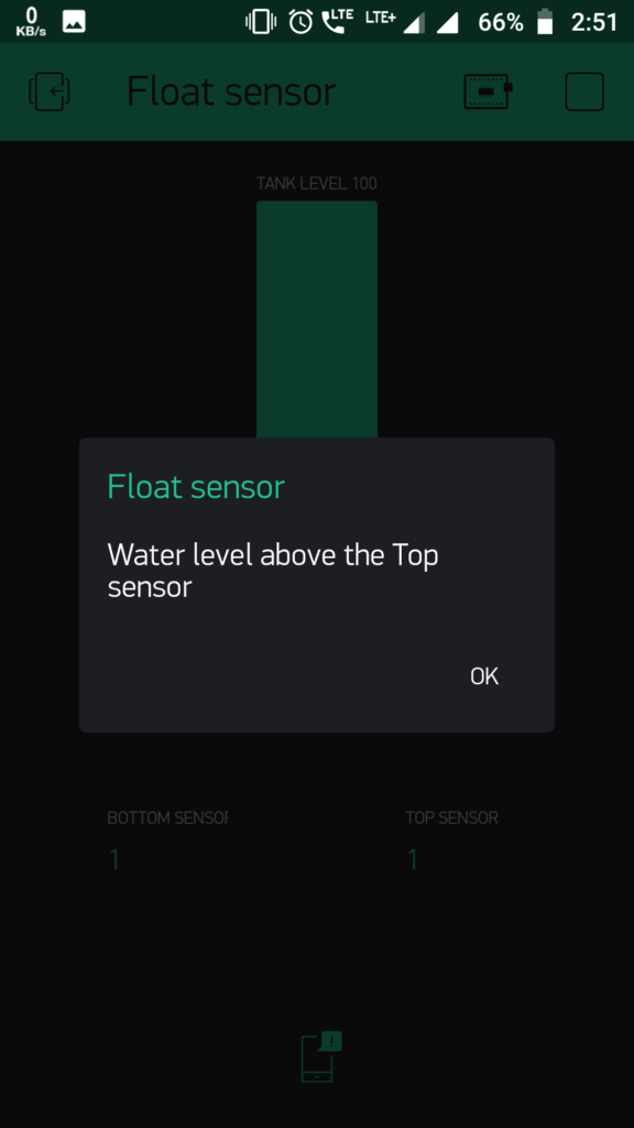 Water level measurement using Float Sensor,ESP8266 and Blynk